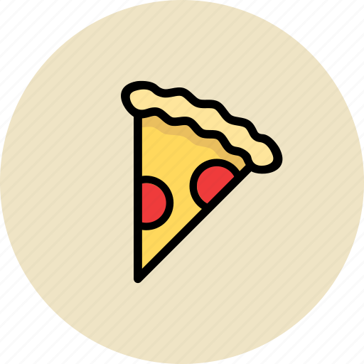 fast food, junk food, pica, pizza, saliami icon