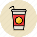 cola, cup, drink, fast food, junk food, soda icon