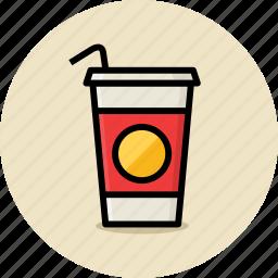 cola, cup, drink, fast food, junk food, soda icon