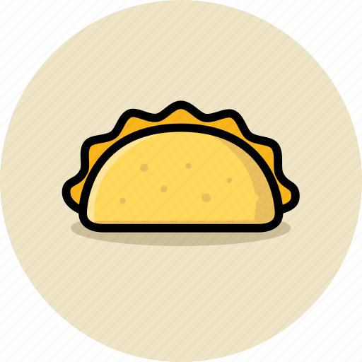 fast food, junk food, taco icon