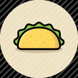 fast food, junk food, taco icon