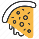 fast, fastfood, food, pizza, slice icon