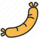 fastfood, food, kitchen, sausage icon