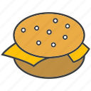 beef burger, burger, eat, fast food, food, junk food icon