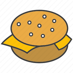 beef burger, burger, eat, fast food, food, junk food icon