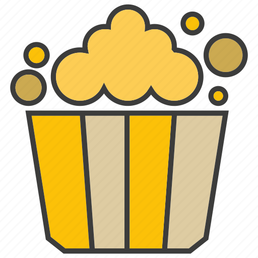 eat, food, popcorn icon