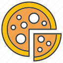 eat, fast food, food, junk food, meal, pizza icon