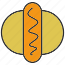 burger, eat, fast food, fat, food, meal, sausage icon