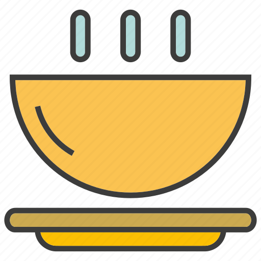 bowl, breakfast, eat, food, hot, meal icon