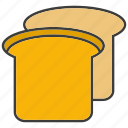 bread, breakfast, eat, food, toast icon