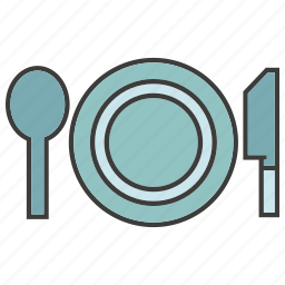 breakfast, dish, food, fork, spoon icon