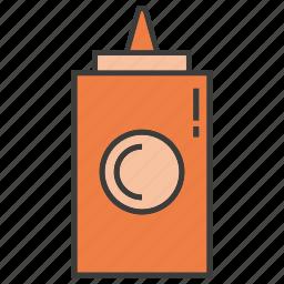 bottle, food, tomato sauce icon