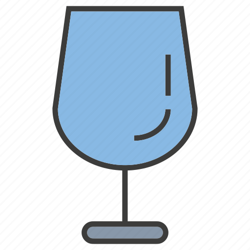glass, water, wine glass icon