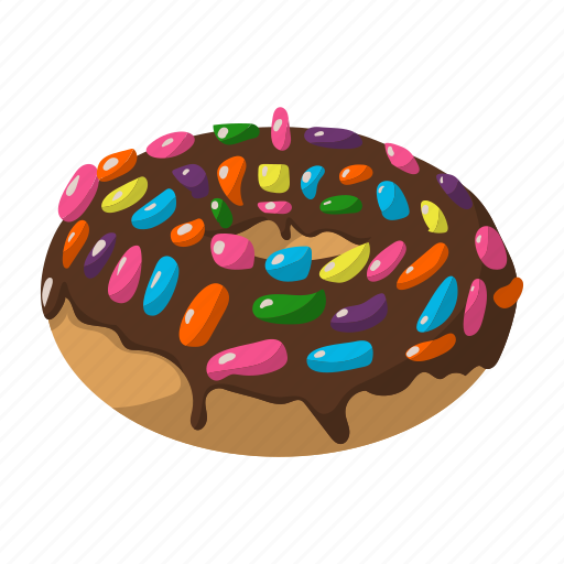 cake, chocolate, dessert, donut, food, icing, pastry icon