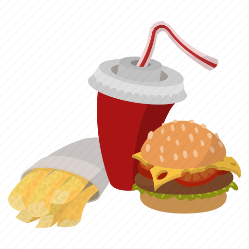 fast, food, hamburger, lunch, restaurant, set, snack icon