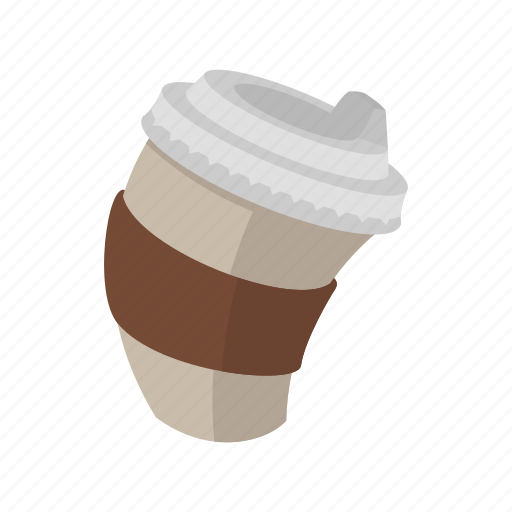 cappuccino, coffe, coffee, cup, drink, latte, paper icon