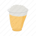 barley, beer, cold, cups, glass, mug, plastic icon