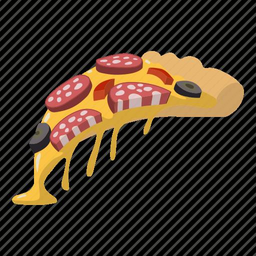 delicious, italian, meal, pepperoni, pizza, salami, slice icon