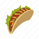 burrito, fastfood, food, mexican, mustache, taco, wrap icon
