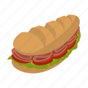 cheese, drawing, food, lettuce, sandwich, submarine, white icon