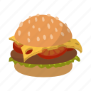 bun, burger, fastfood, fat, hamburger, lettuce, meal icon