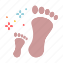 child, day, father, footprint icon