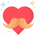 day, fathers, heart, love icon