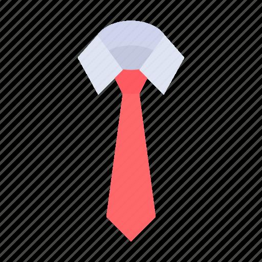 dress, office, shirt, tie icon