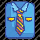 accessory, clothing, elegant, fashion, shirt, tie, uniform icon