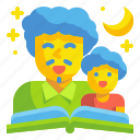 dad, fairytale, father, hearsay, son, story, tale icon