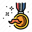 dad, day, fathers, medal icon