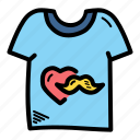 day, fathers, shirt, tshirt icon