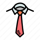 dress, office, shirt, tie icon