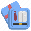 gift, masculine, mens, pack icon