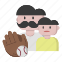 baseball, recreation, sports, time icon