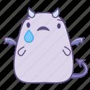 cry, fattie, sad, sticker, succubus, tear, unhappy icon