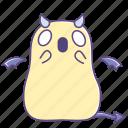 fattie, fearful, scared, scream, shout, sticker, succubus icon
