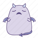 daunted, desprited, disappointed, dishearted, fattie, sticker, succubus icon