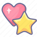bookmark, favorite, heart, like, love, pick, star icon