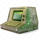 computer, display, fallout, laptop, monitor, pc, retro, screen icon