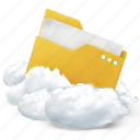 cloud, document, documents, folder, paper icon