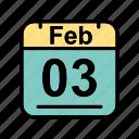 calendar, date, feb, february, fr, schedule icon icon