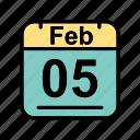 calendar, date, feb, february, schedule icon, su icon