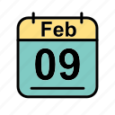calendar, date, feb, february, schedule icon, th icon