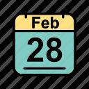 calendar, date, feb, february, schedule icon, tu icon