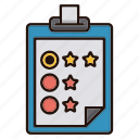 clipboard, contact us, feedback, rating, survey icon