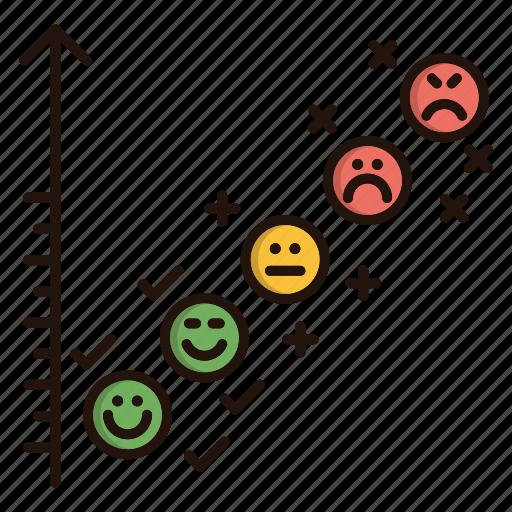 chart, contact us, emoji, faces, feedback icon