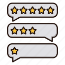 bubbles, contact us, feedback, stars icon