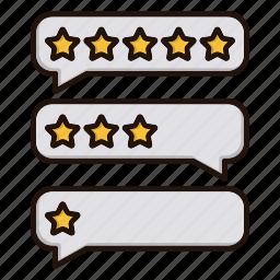 bubbles, contact us, feedback, stars icon