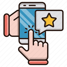 contact us, feedback, online, rating icon